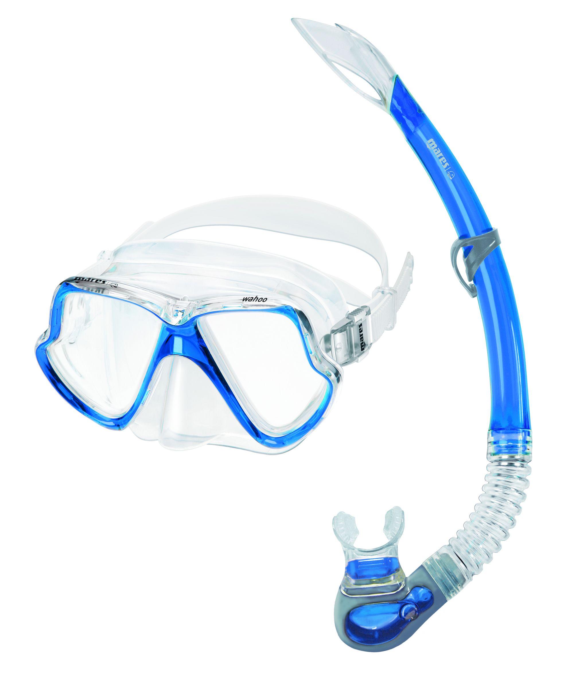 Mares Mask + Snorkel set Wahoo Adult Blauw