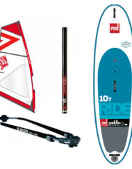 Red Ride 10'7'' WindSUP + zwaard + Gun Sails Tuigage