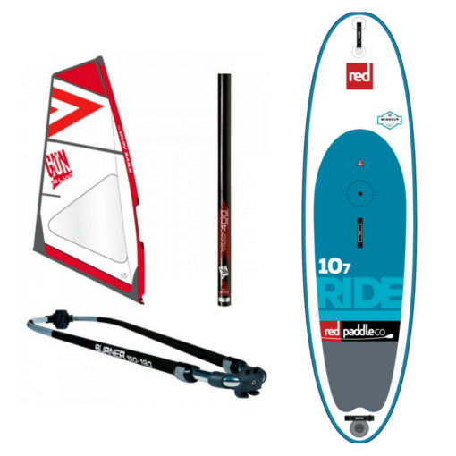 "Red Ride 10'7"" WindSUP 2017 + GUNSAILS Tuigage incl. Peddel"