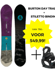 Burton FT Day Trader Directional Flat Top 150 + Stiletto Binding