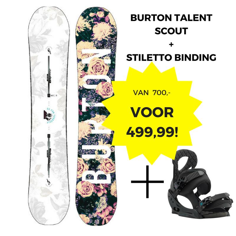 Burton Talent Scout PurePop Camber 152 + Stiletto binding