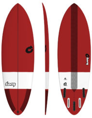 Torq TEC HYBRID - 6'8'' Bordeaux Red