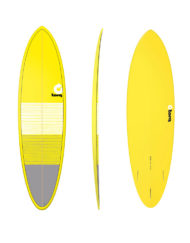 "Torq MOD FUN - 6'8"" Lines Yellow + Gray"