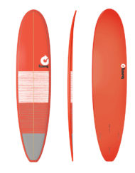Torq MINI LONG - 8'0'' Lines Red + Gray
