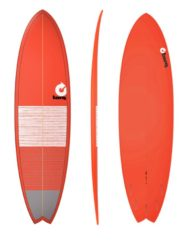 Torq MOD FISH - 7'2'' Lines Red + Gray