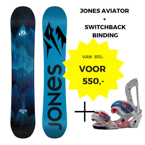 Jones Aviator + Switchback binding