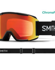 Smith Squad Black - ChromaPop Sun Red Mirror + Spare