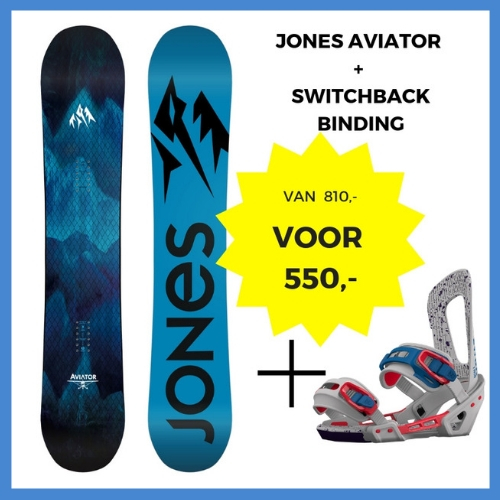 Jones Aviator + Switchback binding